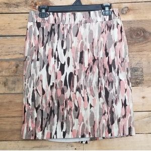Ann Taylor Watercolor Petite Skirt
